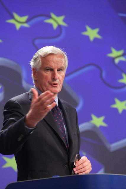Press conference by Michel Barnier, Member of the EC, on the Single Market Act II