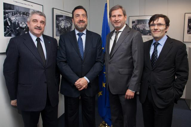 Visit of Miguel Carballeda Piñeiro, President of the General Council of ONCE, to the EC