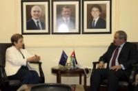 Visite de Kristalina Georgieva, membre de la CE, en Jordanie