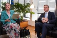 Visit of Barbara-Maria Monheim, Founder and Chairman of the German-Polish-Ukrainian Society, to the EC