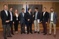 Visite d'une délégation des Jeunes du PPE à la CE