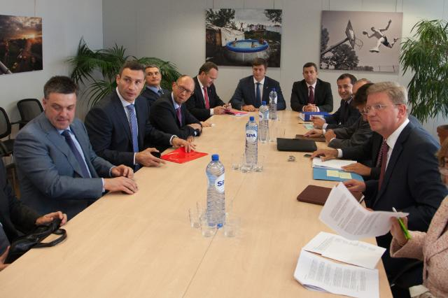 Visit of the representatives of the Ukrainian Opposition to the EC