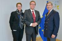 Visit of Jukka Alasentie, Director for the Regional Development of the Council of Tampere, and Hannele Räikkönen, Director of the Tampere Region EU Office, to the EC