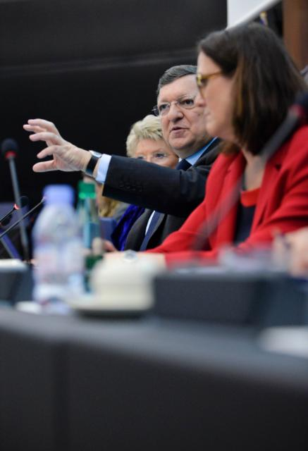 Joint press conference by José Manuel Barroso, President of the EC, Viviane Reding, Vice-President of the EC, and Cecilia Malmström, Member of the EC, on the rule of law framework and vision on the future of Justice and Home Affairs policies