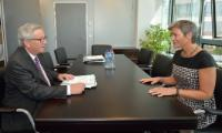 Meeting between Margrethe Vestager, former Danish Minister for Economic Affairs and the Interior, and Jean-Claude Juncker, President-elect of the EC