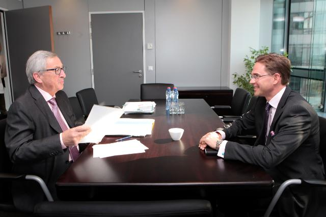 Meeting between Jyrki Katainen, Vice-President of the EC, and Jean-Claude Juncker, President-elect of the EC