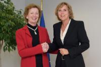 "Illustration of ""Visit of Mary Robinson, UN Special Envoy for Climate Change, to the EC"""