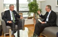 """Illustration of """"Visite de Volkan Bozkır, ministre turc des Affaires européennes et négociateur en chef pour les..."""