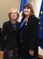 "Illustration of ""Presentation of the Legion d'honneur to Máire Geoghegan-Quinn, Member of the EC, by the French government"""