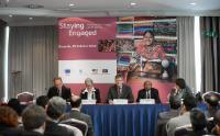 """Illustration of """"Participation de László Andor, membre de la CE, à la réunion de suivi sur le pacte sur la durabilité au..."""