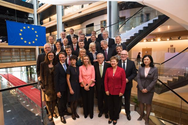 First group photo of the Juncker Commission