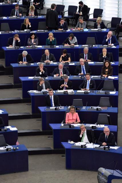 The College of the Juncker Commission after the confirmation vote by the EP