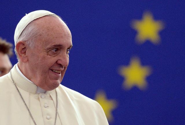 Participation du pape François à la session plénière du PE