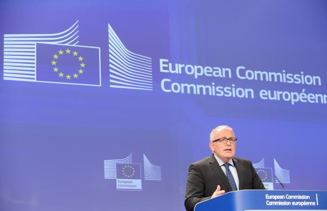 Conférence de presse de Frans Timmermans, premier vice-président de la CE, sur les conclusions de la réunion hebdomadaire de la Commission Juncker
