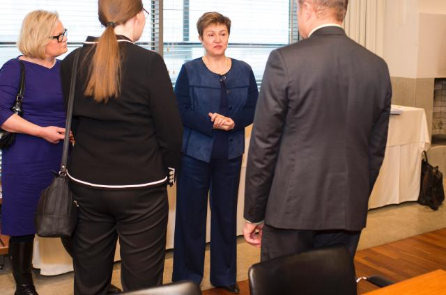 Visite de Kristalina Georgieva, vice-présidente de la CE, en Finlande