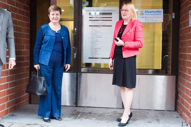 Visit of Kristalina Georgieva, Vice-President of the EC, to Finland