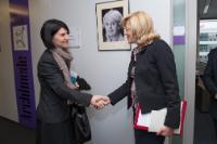 """Illustration of """"Visite de Violeta Alexandru, directrice de l'Institut pour les politiques publiques, à la CE"""""""