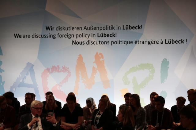 Participation de Federica Mogherini, vice-présidente de la CE, à une réunion des ministres des Affaires étrangères du G7, à Lübeck