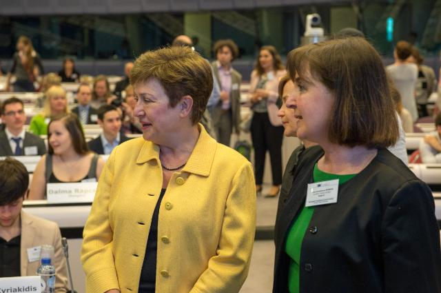 Award ceremony of the Juvenes Translatores 2015 translation contest, with the participation of Kristalina Georgieva, Vice-President of the EC