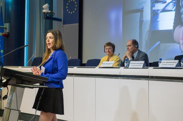 Participation de Kristalina Georgieva à la cérémonie de remise des prix du concours de traduction 2015 'Juvenes Translatores'
