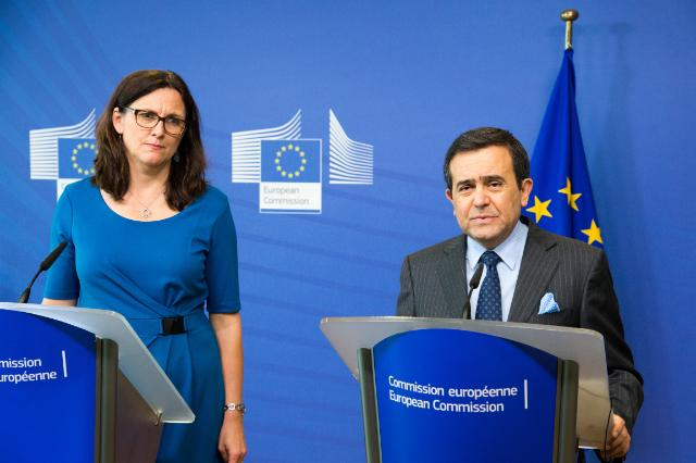 Joint press conference by Cecilia Malmström, Member of the EC, and Ildefonso Guajardo Villarreal, Mexican Secretary for Economy, on the upgrade of the EU-Mexico Free Trade Agreement