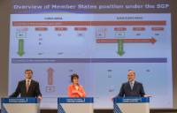 """Illustration of """"Joint press conference by Valdis Dombrovskis, Vice-President of the EC, Marianne Thyssen and Pierre..."""