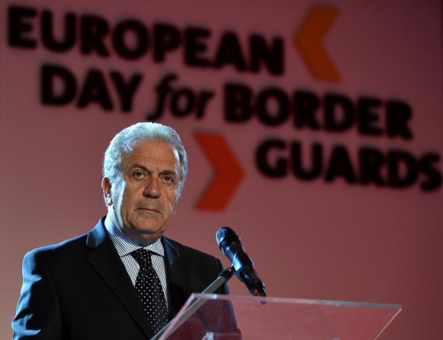 Participation de Dimitris Avramopoulos, membre de la CE, à la  Journée européenne des gardes-frontières, à Varsovie