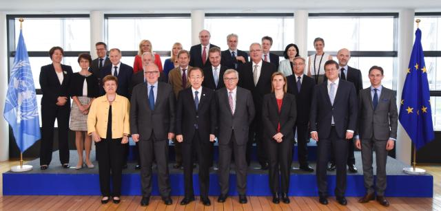 """Illustration of """"Visit by Ban Ki-moon, Secretary General of the United Nations to the EC"""""""