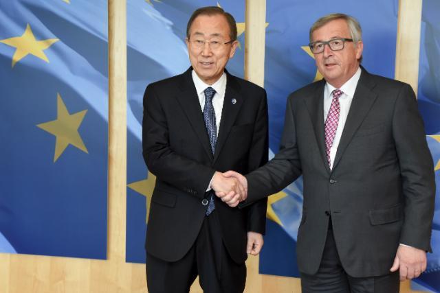 Visite de Ban Ki-moon, secrétaire général des Nations unies, à la CE