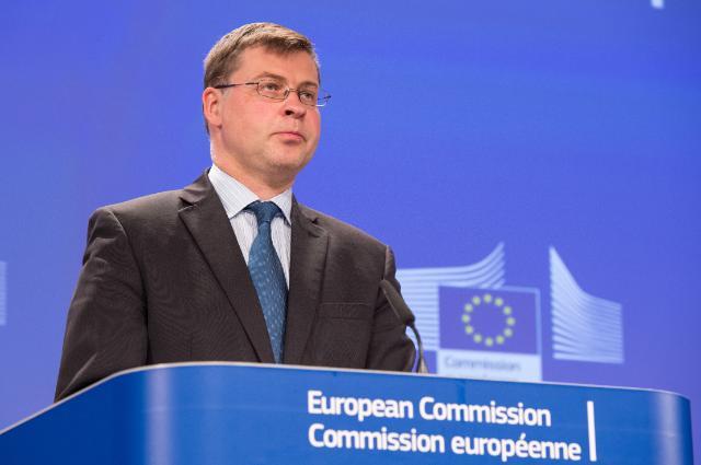 Press conference by Valdis Dombrovskis
