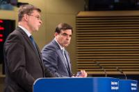 Press conference by Valdis Dombrovskis, Vice-President of the EC, on the conclusions of the weekly meeting of the Juncker Commission