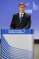 Conférence de presse de Valdis Dombrovskis, vice-président de la CE, à la suite du référendum grec