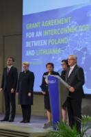 Signing ceremony of the grant agreement to support the project of the Gas Interconnector between Poland and Lithuania