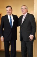Visite de Mario Draghi, président de la Banque centrale européenne, à la CE