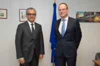 Visit of Salman bin Ebrahim Al-Khalifa, President of the AFC, to the EC