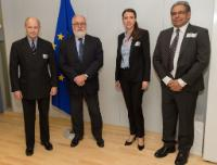Visit of Emmanuelle Causse, Director of European Affairs of the UIPI, Yogesh Kumar, Environment Director at the Swedish Property Federation, and Michael MacBrien, Director General at the EPF, to the EC