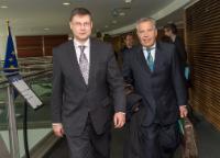 Visite de Richard Weber, président d'Eurochambres et président de la Chambre de commerce et d'industrie de Sarre, à la CE