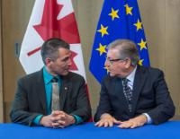 Signing Ceremony with participation of Karmenu Vella, Member of the EC, and Hunter Tootoo, Canadian Minister for Fisheries, Oceans and the Canadian Coast Guard
