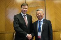 Visite de Valdis Dombrovskis, vice-président de la CE, en Mongolie