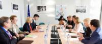 Visite de Carmen Vela Olmo, secrétaire d'État espagnole à la Recherche, au Développement et à l'Innovation, et Manuel Heitor, ministre portugais des Sciences, de la Technologie et de l'Enseignement supérieur, à la CE