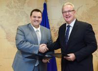 Visite de Stéphane Artano, président du conseil territorial de Saint-Pierre-et-Miquelon (SPM), à la CE