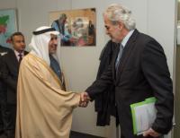 Visite d'Abdullah Al Rabeeah, conseiller à la Cour royale et superviseur général du Centre du Roi Salman pour les Secours et l'Aide humanitaire, à la CE