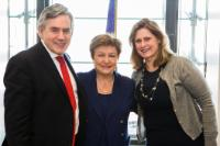 Visit of Gordon Brown, UN Special Envoy on Global Education, and Sarah Brown, Founder and Executive Chair of GBC-Education, to the EC