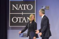 Joint press conference by Federica Mogherini, Vice-President of the EC, and Jens Stoltenberg, Secretary General of NATO, following the meeting of Ministers for Foreign Affairs of NATO