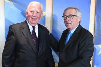 Visit of Jacques Santer, former President of the EC, to the EC