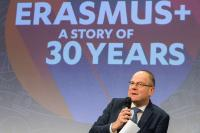 Press conference by Tibor Navracsics, Member of the EC, on Erasmus+ 30th anniversary