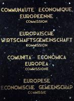 The marble plaque of the: European Economic Community; Commision (1958)