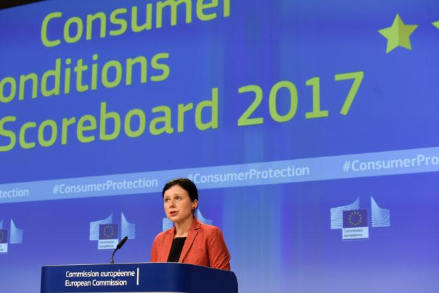 Press conference by Vĕra Jourová, Member of the EC, on the results of the 2017 Consumer Markets Scoreboard