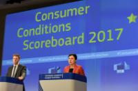 Press conference by Vĕra Jourová, Member of the EC, on the 2017 Consumer Conditions Scoreboard