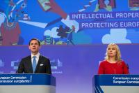 Press conference by Jyrki Katainen, Vice-President of the EC, and Elżbieta Bieńkowska, Member of the EC, on the Intellectual Property package